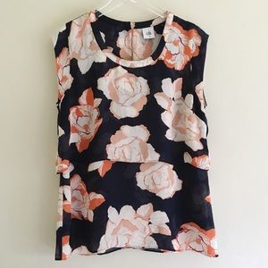 CABI Blue Floral Top Style 5030 M